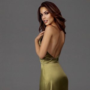 kirsiva-green-olive-dress-back